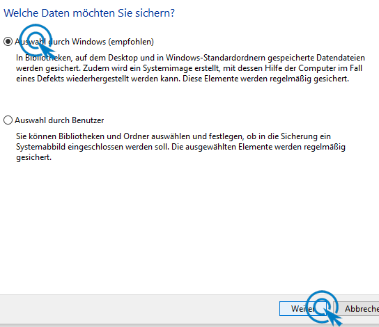 Sicherung Windows 10